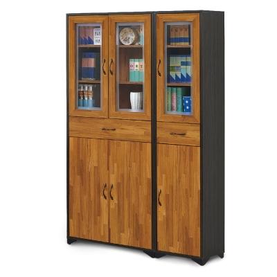 AS-羅根2.6尺書櫥+羅根1.3尺書櫥-118x30x187cm