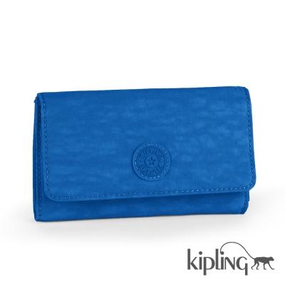 Kipling 長夾 酷藍素面-小