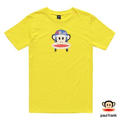 Paul Frank-安全帽造型Julius印花短袖T恤-黃(男)