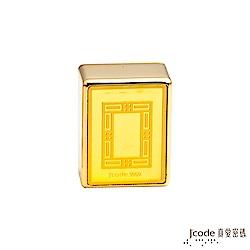 J'code真愛密碼 黃金開運麻將-白 約0.168錢