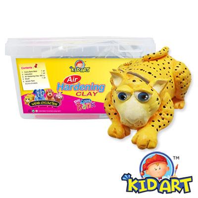 KID-ART-美國創意手作黏土-原色黏土-小獵豹