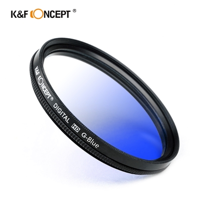 K&F Concept 超薄無暗角清晰漸變圓形濾鏡 藍色