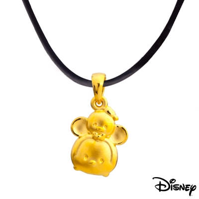 Disney迪士尼金飾 TSUM好朋友系列 米奇唐老鴨黃金墜子 送項鍊