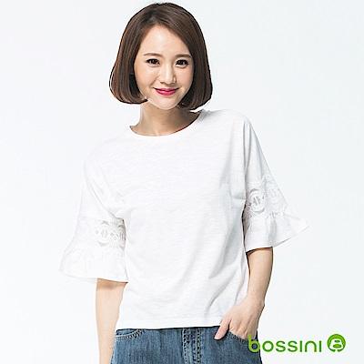 bossini女裝-圓領短袖上衣26白