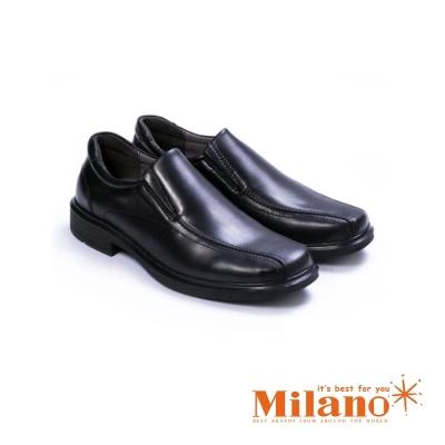 W&M 都會紳士減壓系列直套正裝男仕皮鞋-黑