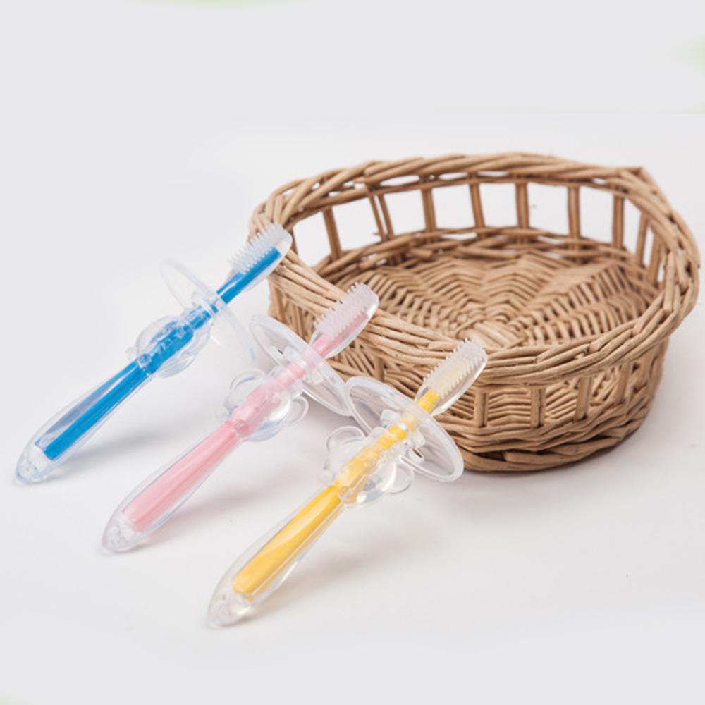 colorland【2入】嬰幼兒矽膠牙刷 寶寶專用乳牙刷-共三色