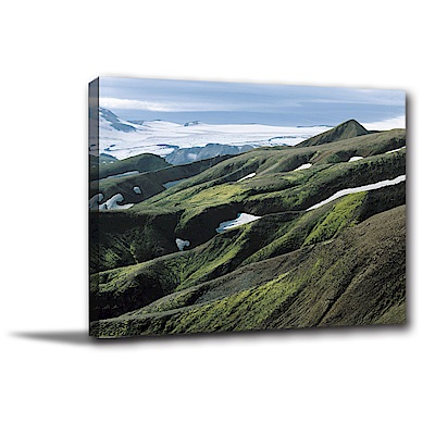 24mama掛畫-單聯式橫幅 掛畫無框畫 山川峽谷 40x30cm