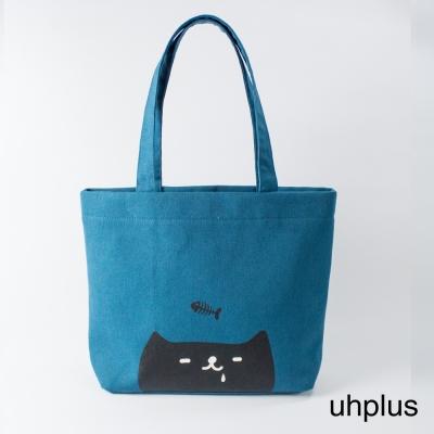 uhplus 輕托特-喵日常 貪吃鬼(藍)