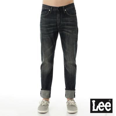 Lee 牛仔褲 726 中腰標準小直筒-特殊反光內褲腳-男款-懷舊藍