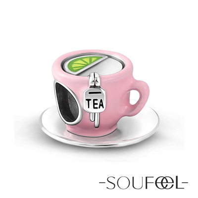 SOUFEEL索菲爾 925純銀珠飾 檸檬茶 串珠