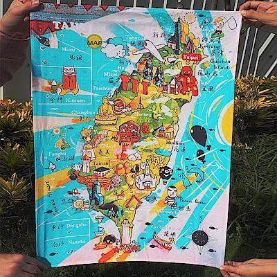 JB DESIGN-台灣文創布地圖-125-歡樂台灣島