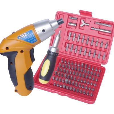 修繕大補帖 4V電動起子機+101件工具組