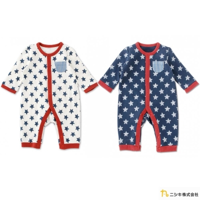 Nishiki 日本株式會社 星星長袖連身衣