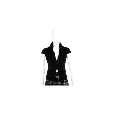 KENZO-IM MARRAS 黑色絨質短袖小外套