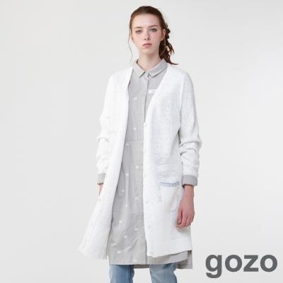 gozo 攝影家復古刺繡襯衫洋裝(二色)