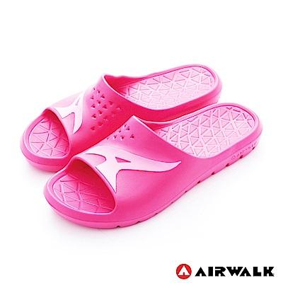 美國AIRWALK - 舒適柔軟輕盈AirJump拖鞋-粉紅色