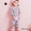 Little moni 幾何織紋連身褲 (共2色)