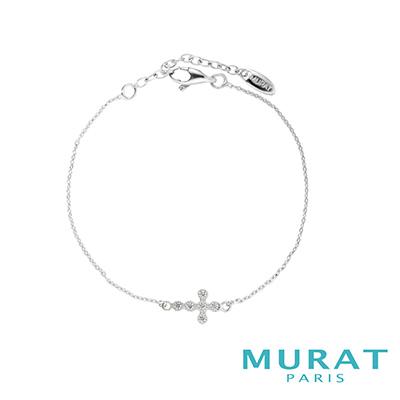 MURAT Paris米哈巴黎 優雅十字滿鑽手鍊