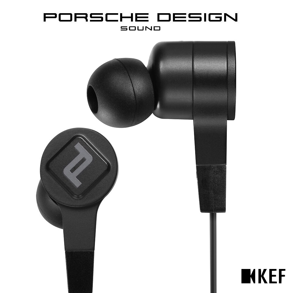 KEF PORSCHE DESIGN MOTION ONE 藍牙入耳式耳機 黑色