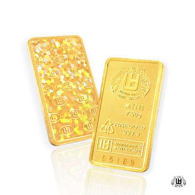 煌隆 貳台錢黃金條塊