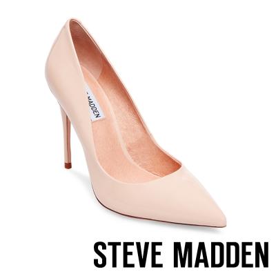 STEVE MADDEN-DAISIE 素面尖頭高跟鞋-鏡裸色