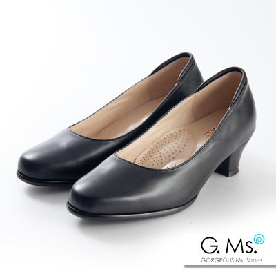 G.Ms.  小資X麻吉-MIT手工全真皮舒適低跟包鞋-D款
