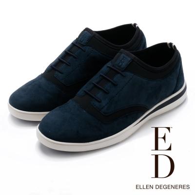 ED Ellen DeGeneres 麂皮牛津彈力休閒鞋-絨藍