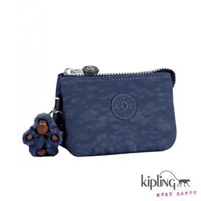 Kipling-手拿零錢包-深海藍素面
