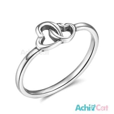 AchiCat 925純銀戒指尾戒 心心相印