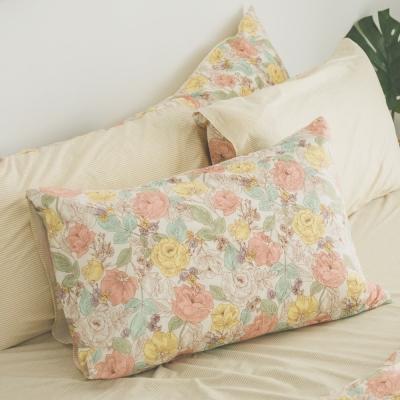 翔仔居家 雙人枕套床包3件組(Blossom) / 精梳棉 / 台灣製
