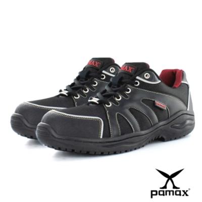 PAMAX 帕瑪斯【超彈力氣墊、止滑鋼包頭鞋】透氣布面、夜間反光-P666B07