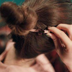 Hera赫拉 韓款立體山茶花朵緞帶髮夾/邊夾/一字夾(三色)
