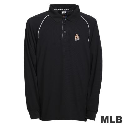 MLB-巴爾的摩金鶯隊LOGO排汗POLO衫-黑(男)