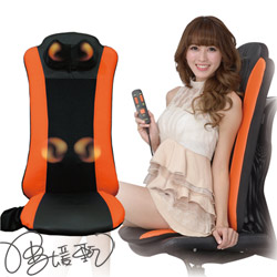 全方位㊣肩頸背部行動按摩椅墊-活