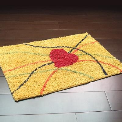 布安於室-心線純棉踏墊(2入)-黃色