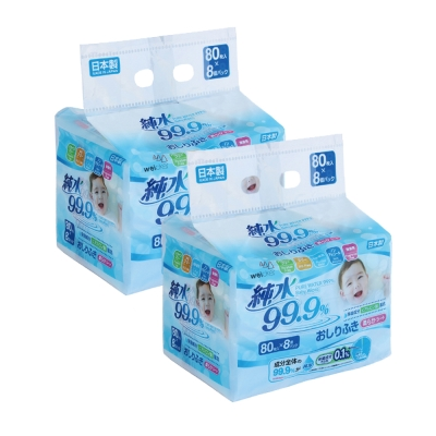 Weicker-純水99.9%日本製濕紙巾-80抽x16包