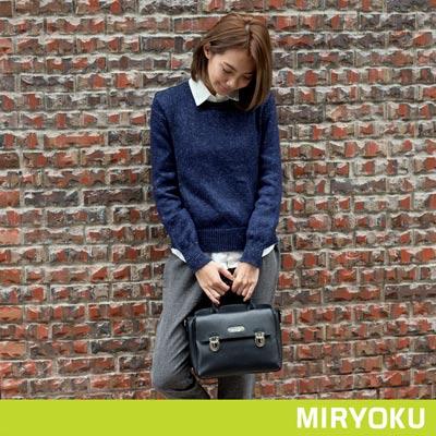 MIRYOKU-質感斜紋系列-質感休閒通勤兩用包