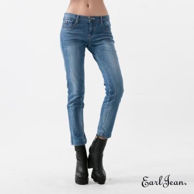 Earl Jean 魔鏡翹臀中腰緊身窄管九分褲-中藍-女