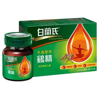 白蘭氏 冬蟲夏草雞精 4盒組(42g/瓶 x 6瓶 x 4盒)