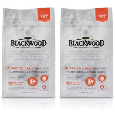 BlackWood 柏萊富 無榖全齡低敏挑嘴(鮭魚+碗豆)5磅 2.27公斤 X 2包