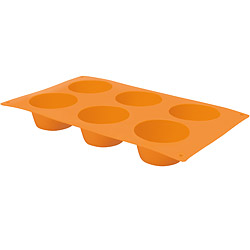 EXCELSA Sweet六格矽膠瑪芬烤盤(橘)