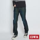 EDWIN 迦績褲JERSEYS黑腰頭中直筒褲-男-酵洗藍