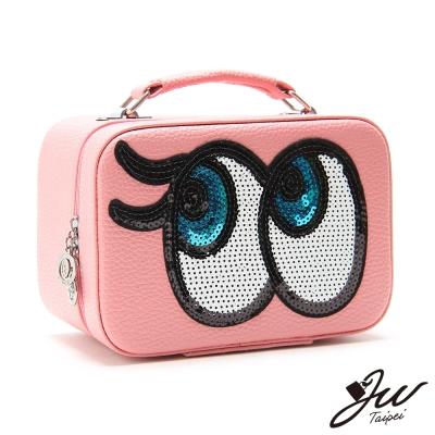 JW-瑪莉之眼亮片手提化妝箱-共五色-快