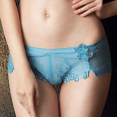 莎露 手工婚紗系列M-LL 中低腰平口褲(湖水藍)