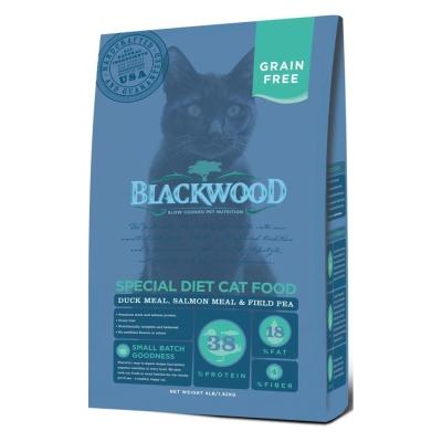 Blackwood柏萊富 特調無穀全齡貓配方(鴨肉+鮭魚+碗豆) 4lbs x 1包
