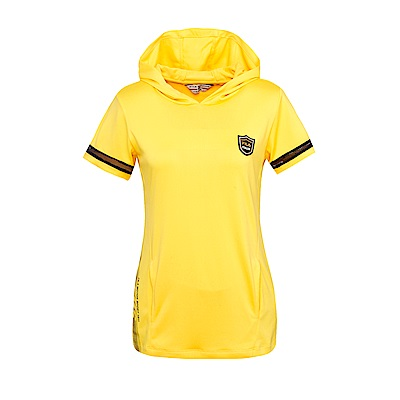 FILA 女款連帽T恤-黃5TES-1458-YE