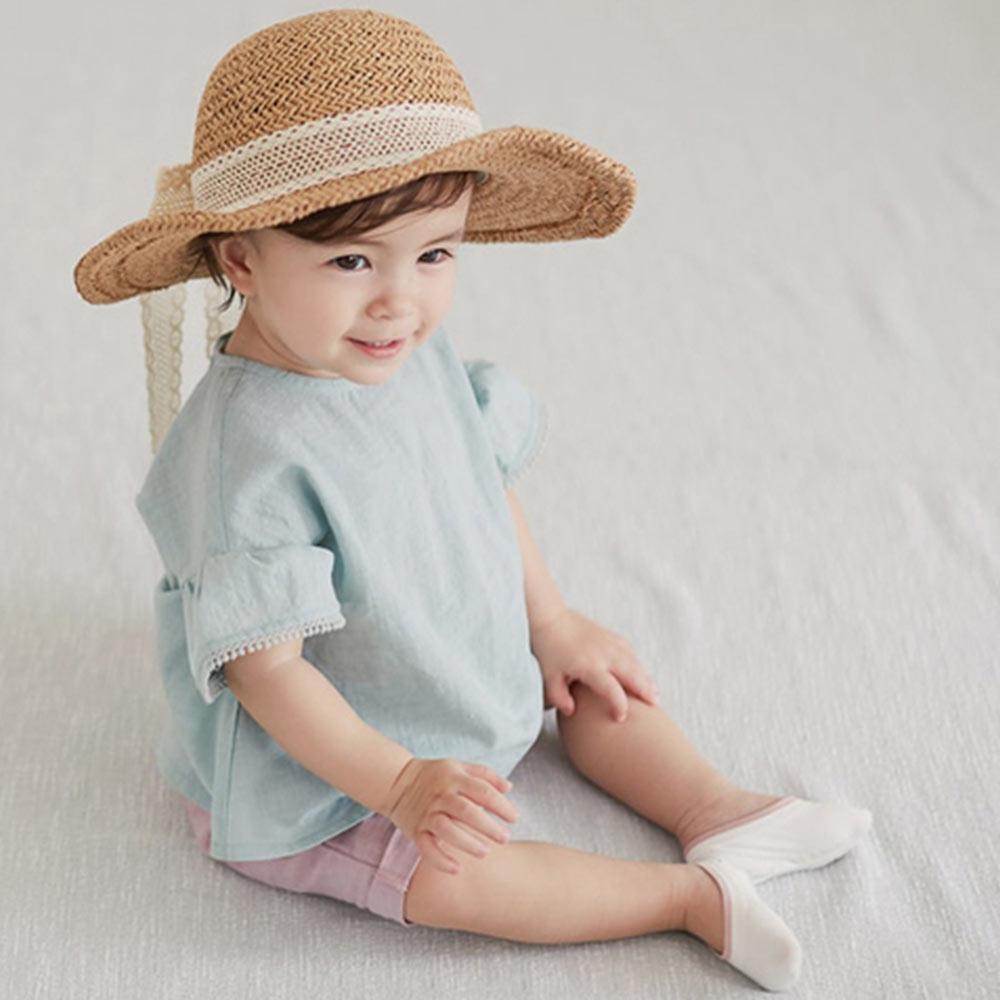 韓國 Happy Prince 蕾絲綁帶編織遮陽帽
