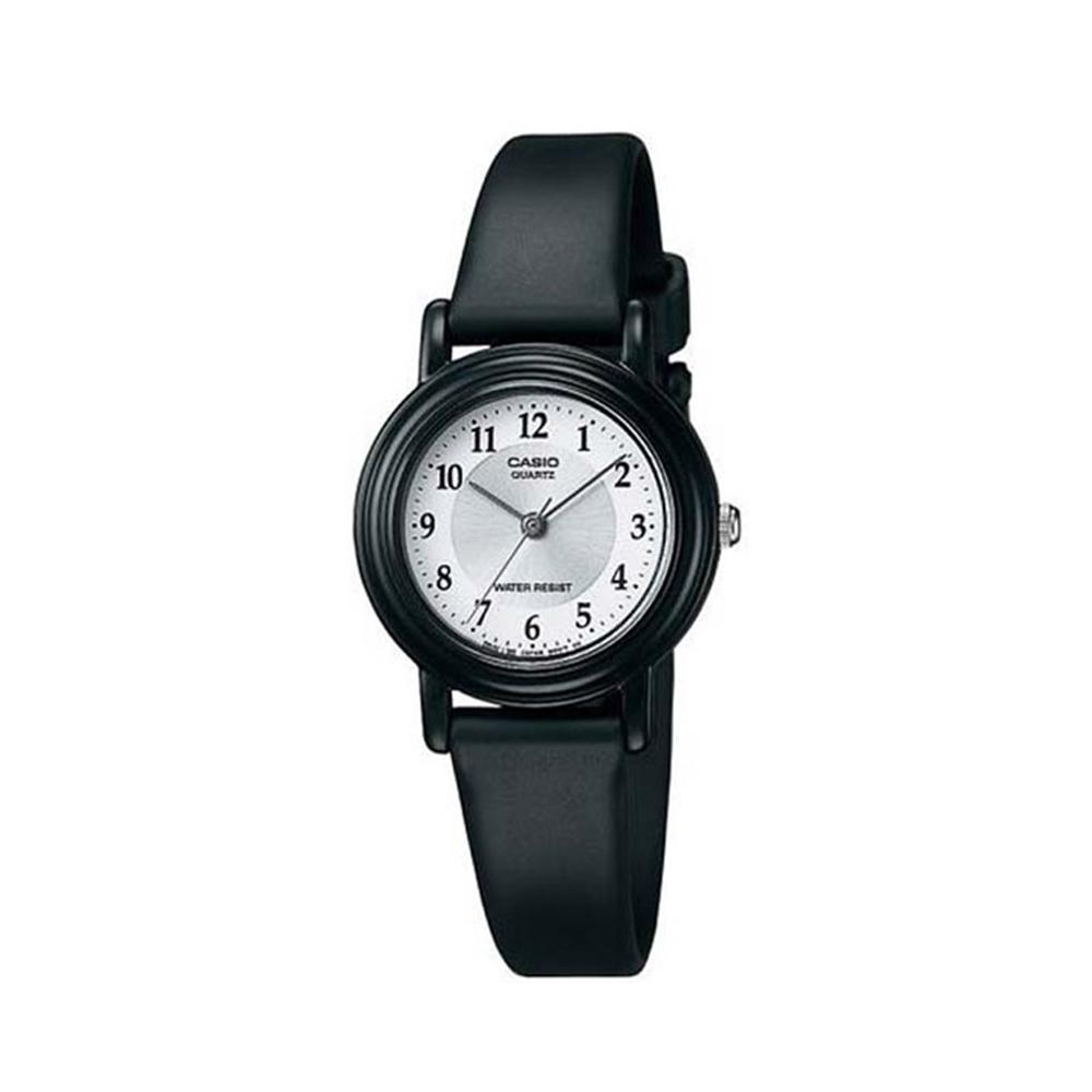CASIO 簡單實用指針童童錶-白面黑色指針