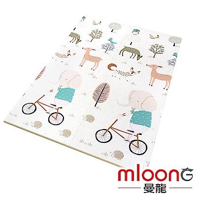 Mloong曼龍 XPE環保無毒巧拼地墊6片組 -森林大象 (附邊條x10)