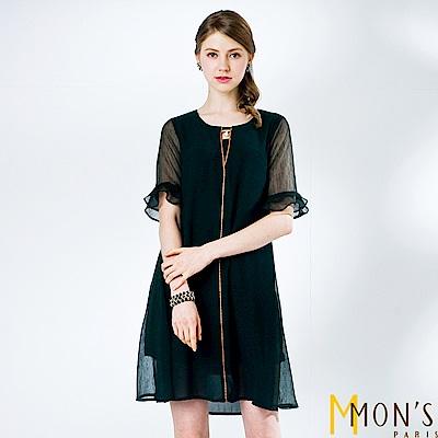 MONS 雙縐飄逸雪紡洋裝